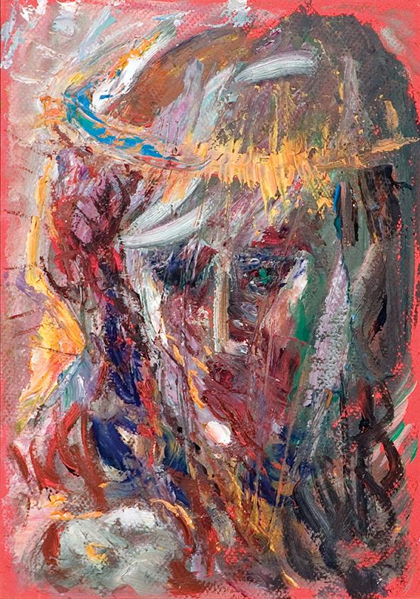 Jesus (2). 2010. Oil on cardboard. 29.5 x 21