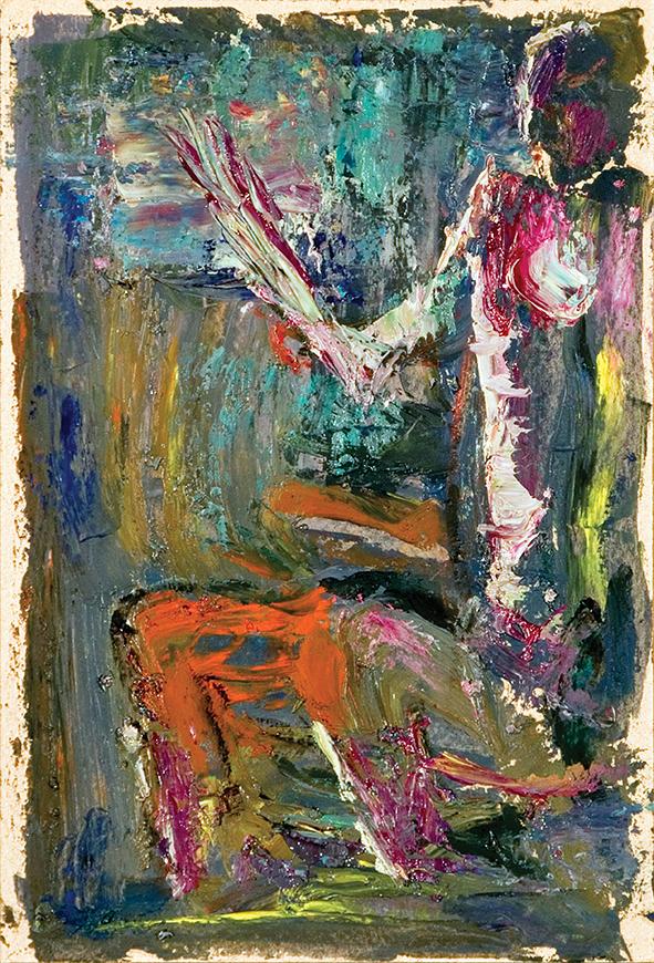 Godforsaken Human Being. 2010. Oil on cardboard. 29.5 х 21