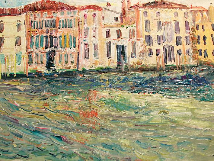 Sun. Venice. 9:00 am 2010. Oil on canvas, cardboard. 30 х 40