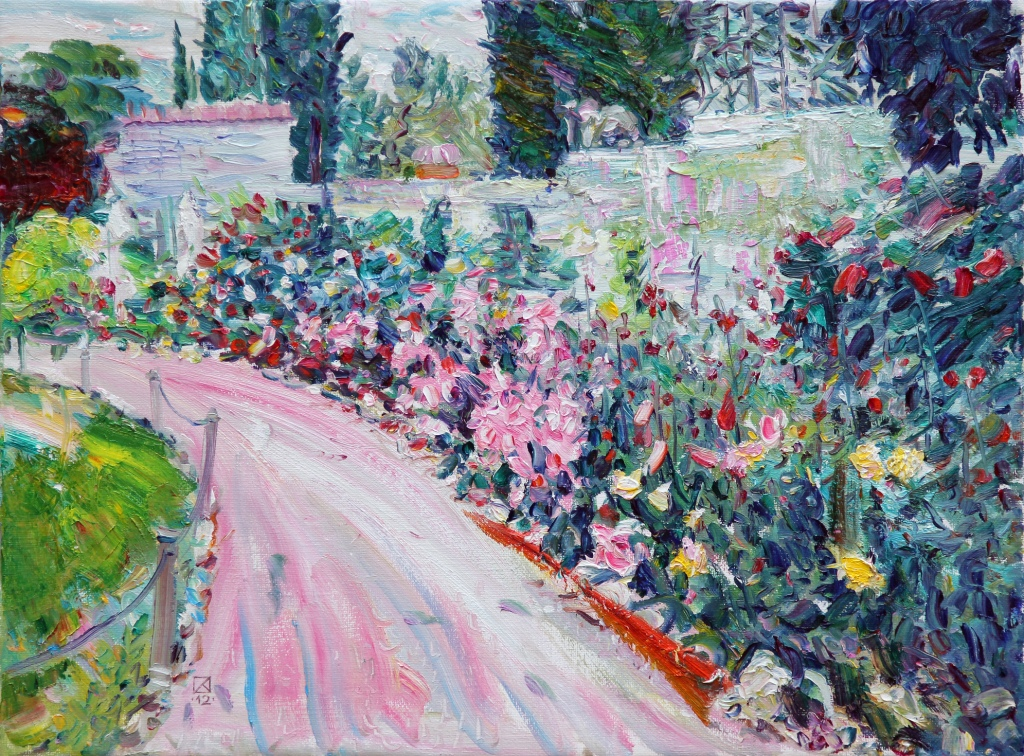 Pink Roses. 2012.  Oil on canvas  60 х 80