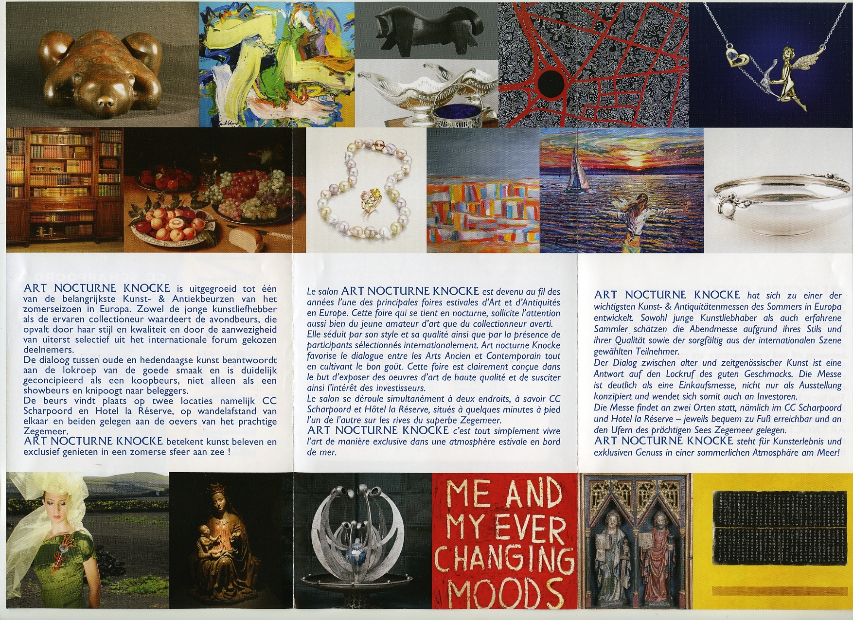 The booklet of The Art Nocturne Knocke, 09-17.08.2014