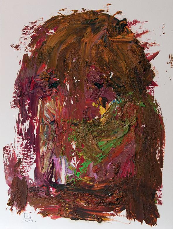 The King of Wood Goblins. 2009. Oil on cardboard. 28 х 21