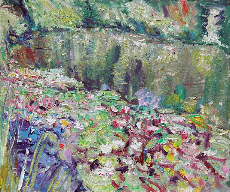 Singing Water Lilies. 2012. Oil on canvas. 50 х 60