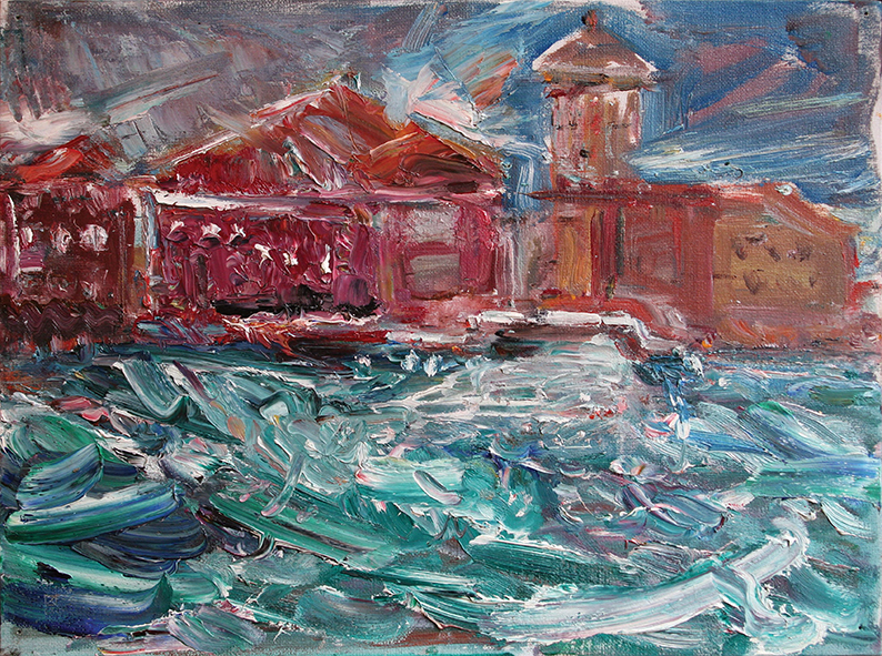 Sulky Day. 2009. Oil on canvas, cardboard. 30 x 40