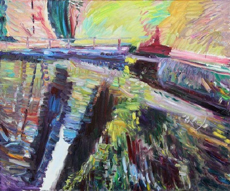 Miramare. Diptych (left). 2011. Oil on canvas. 100 х 120