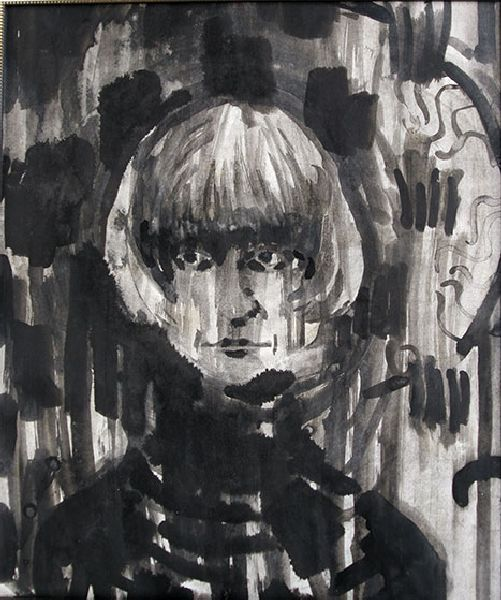 Self-portrait. 1991. Ink on paper. 75 х 62