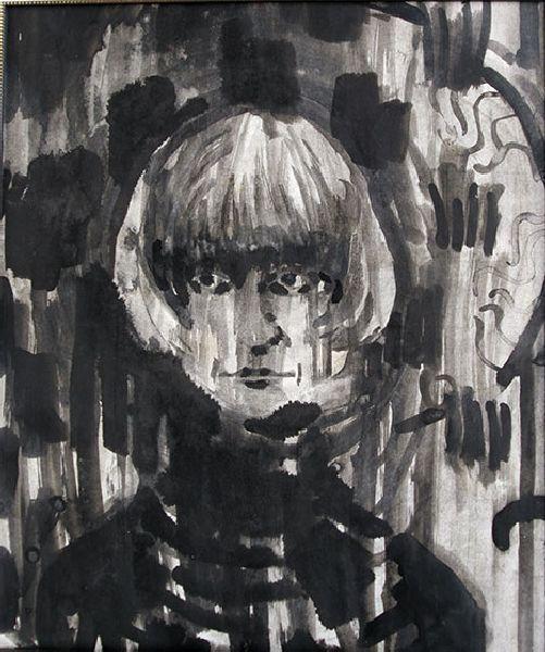 Self-portrait. 1991. Ink on paper. 75 х 62