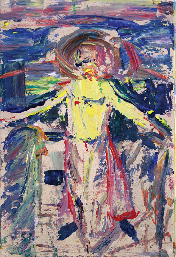 Crucifixion (incl. in the construction of the Collected Feelings of Venice).  2007.  Oil on cardboard. 29.5 х 21