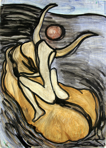 Abduction of Europa. 1992. Mixed media on paper. 86 х 61