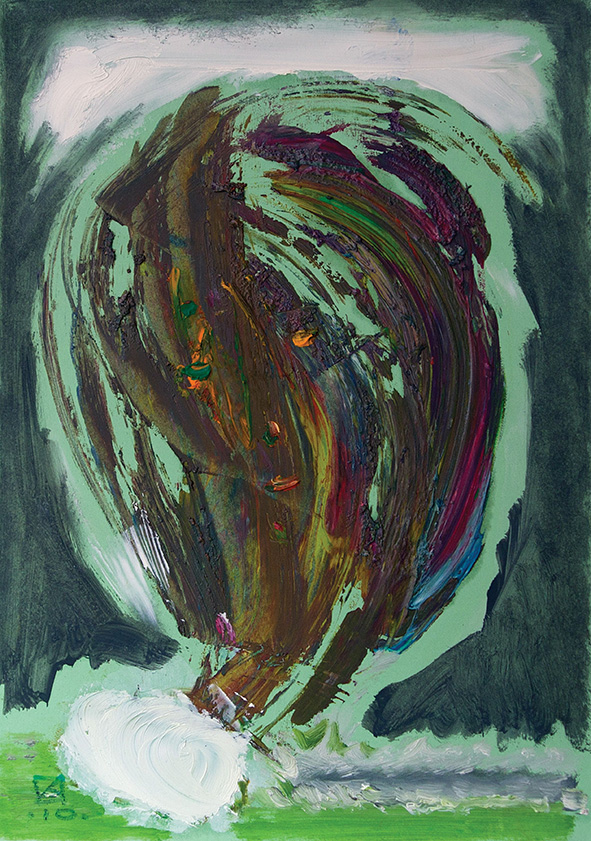 Cloud. Image. 2010. Oil on cardboard. 30 х 20.5