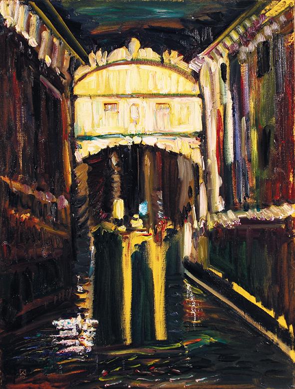 Bridge of Sighs. Venice. 2010. Oil on canvas. 78 х 60