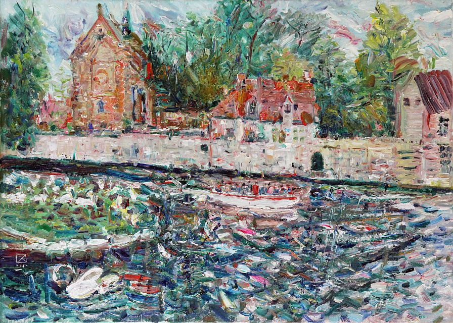 Bruges. View to the Beguine Convent. 2011. Oil on canvas. 50 x 70