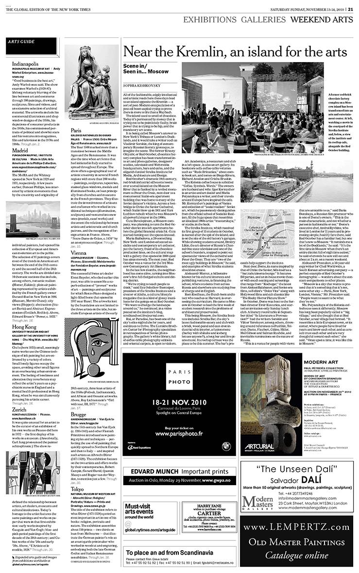 'New York Times', 14.11.2010
