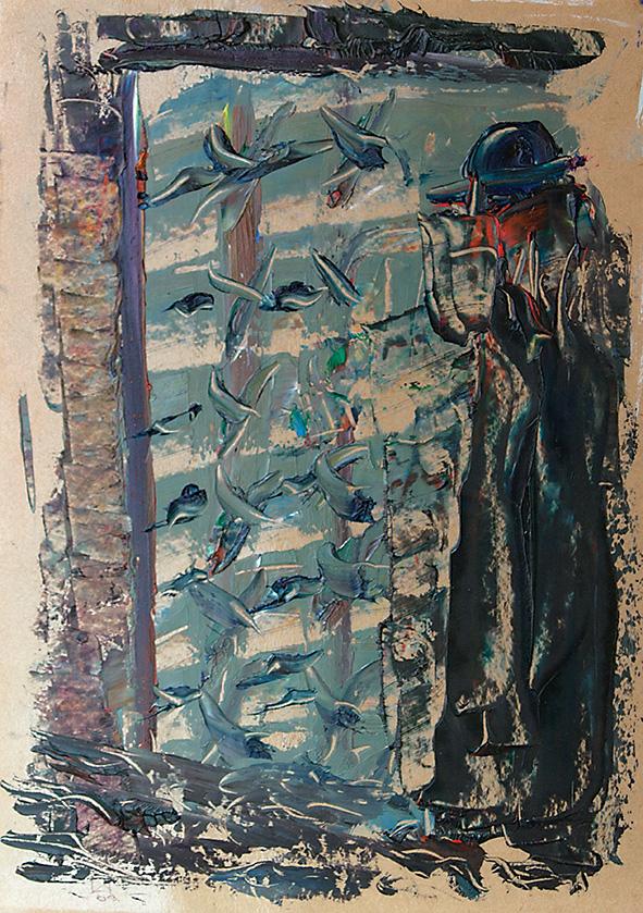 The Jew. 2009. Oil on cardboard. 29.5 х 21