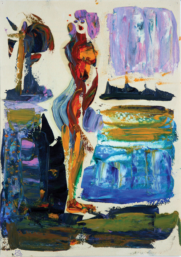 Two Heroes II. Diptych. 2005. Oil on colored paper. 30 х 21