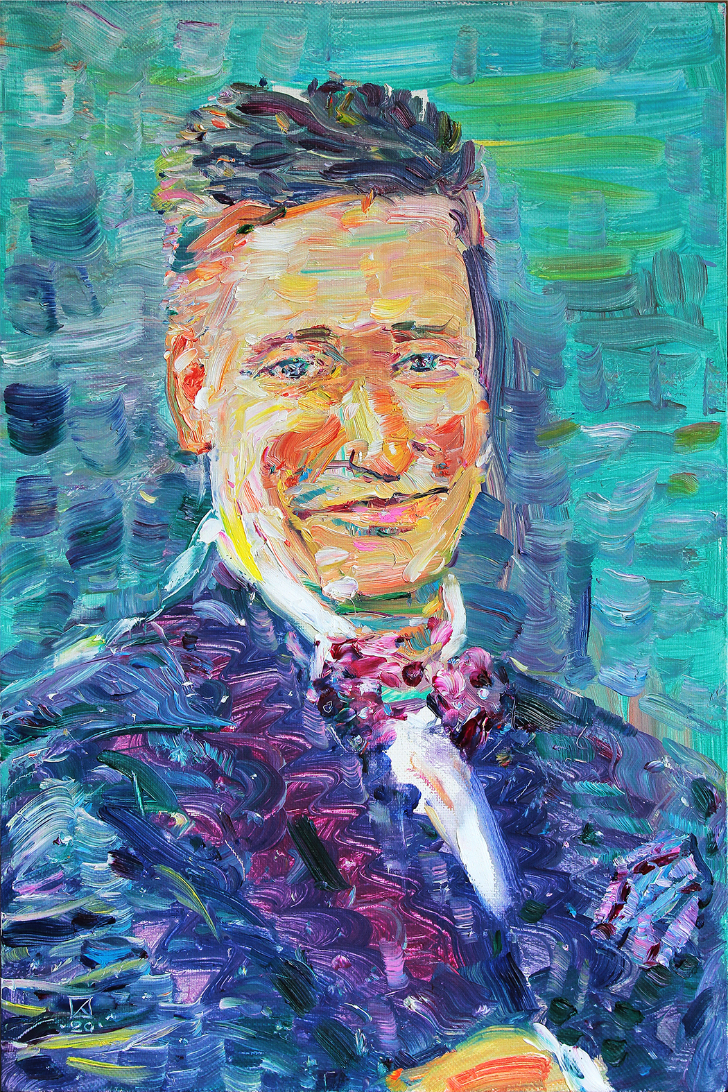 Male Portrait. 2020. Oil on canvas. 60 x 40