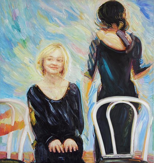 Cloud 4. 2002. Oil on canvas. 85 x 80