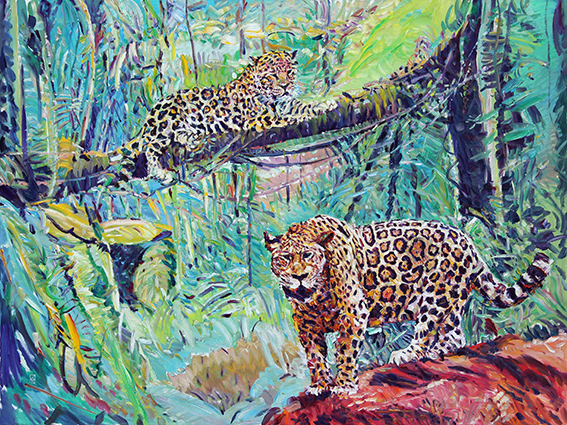 Maya Forest. 2012. Oil on canvas. 165 x 220