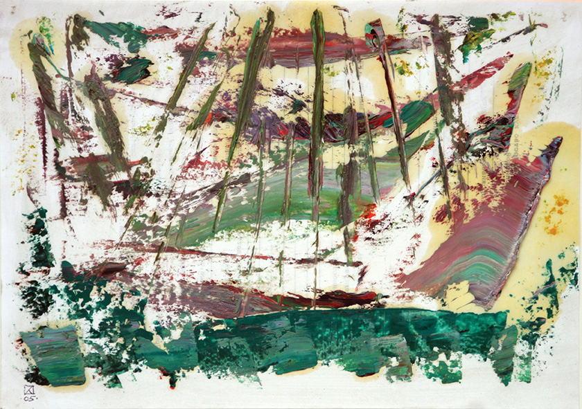 Ship Constructions. Diptych (right).  2005. Oil on paper. 21 х 29.5