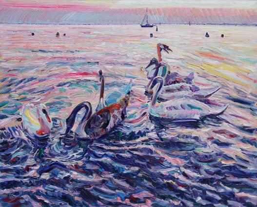 Swan Summer. 2011. Oil on canvas. 90 x 110