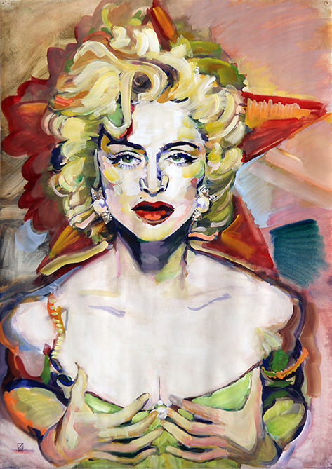 Madonna. The Star. 1995. Oil on canvas. 100 х 80