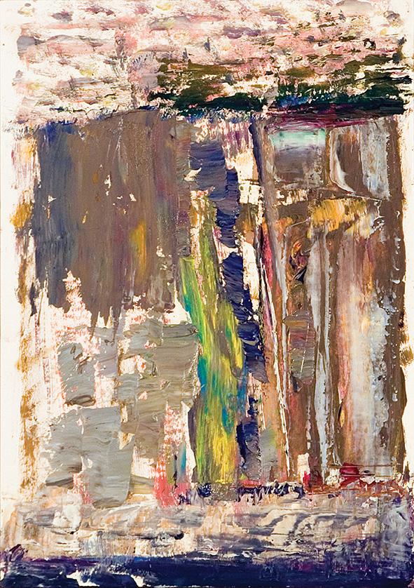 Venetian Waterfall. 2010. Oil on cardboard. 29.5 х 21