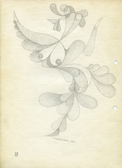 Hen. 1991. Pencil on paper. 30 х 21