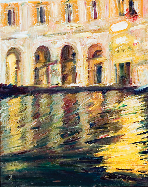 Yellow Dream. 2010. Oil on canvas, cardboard. 50 х 40