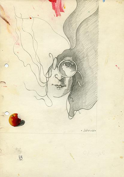 John. 1991. Pencil on paper. 30 х 21