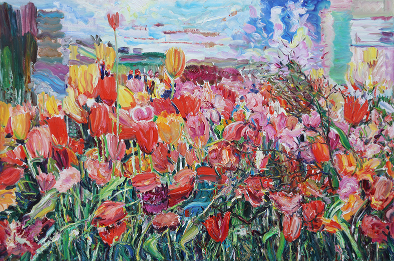 Spring Touch. 2013. Oil on canvas. 120 х 180