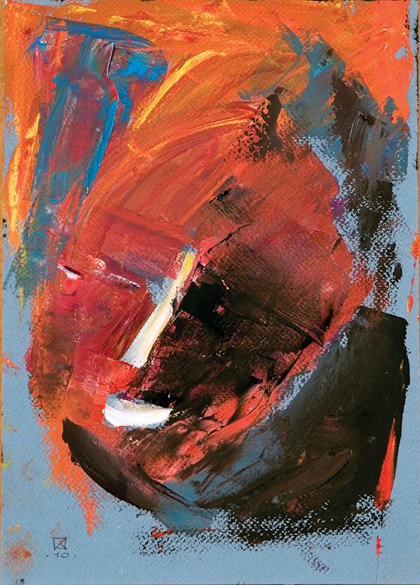 Mask 2. Venice. 2010. Oil on cardboard. 29.5 х 21