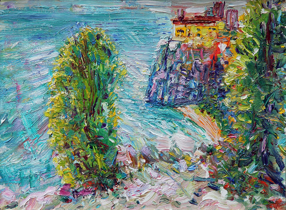 Rilke`s Path. 2012. Oil on cardboard, canvas. 30 х 40