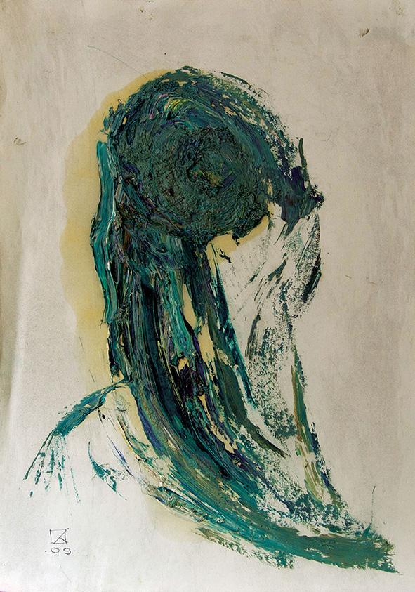 Venetian Portrait (12). 2009. Oil on cardboard. 29.5 х 20.5
