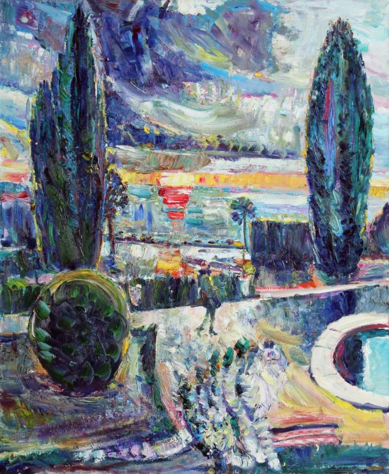 Sailing Sunset. 2012. Oil on canvas. 120 х 100