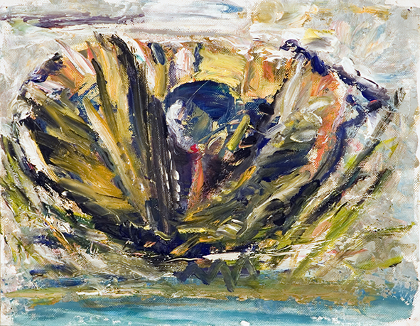 Lagoon Birth. 2010. Oil on canvas, cardboard. 25 х 32.5