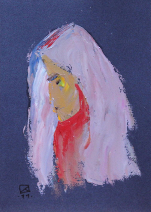 Glance. 2011. Oil on paper. 29,5 х 21