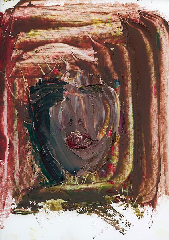 Figure in Glass Alcove. 2010. Oil on cardboard. 29.5 х 21