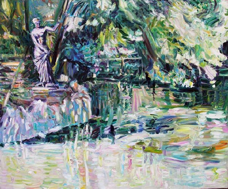 Miramare. Lake. 2011. Oil on canvas. 100 х 120