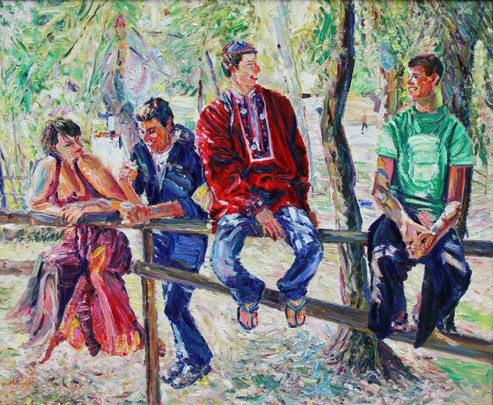 Cheerful Guys. 2011. Oil on canvas. 100 х 120