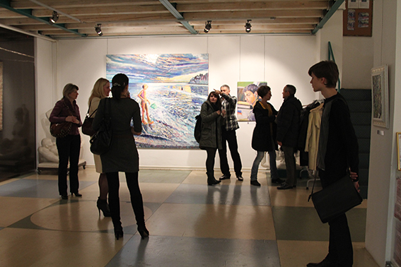 Vernissage of the exhibition in the gallery Art Colony, Red October, Moscow, 12.11.2011