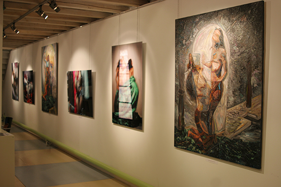 Vernissage in the Art Colony Gallery, Red October, Moscow, 18.11.2010