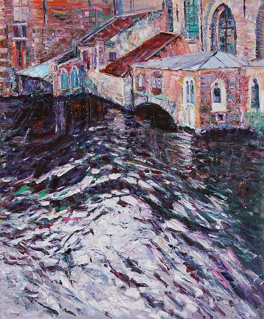 Dark Waters of Bruges. 2012. Oil on canvas. 120 х 100