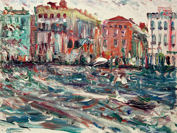 Venice in Winter. 2010. Oil on canvas, cardboard. 30 х 40