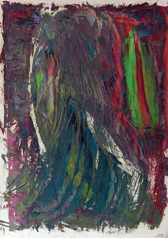 Bloody Head of Gondola. 2009. Oil on cardboard. 29.5 х 21