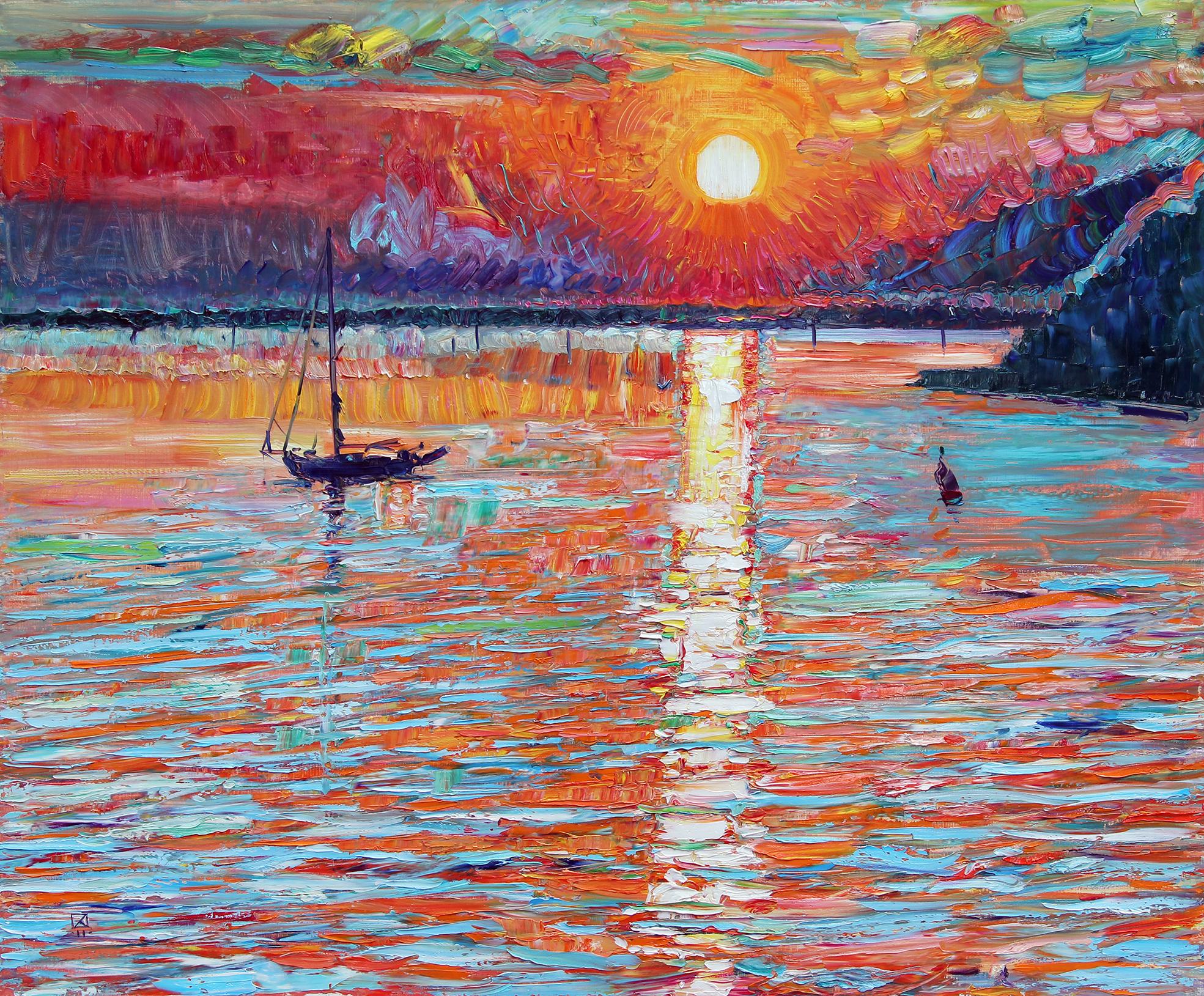 Sunset in Duino. 2011. Oil on canvas. 100 х 120