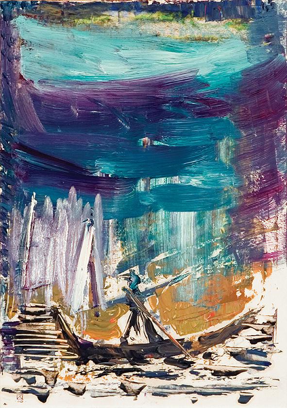White Dream. 2010. Oil on cardboard. 29.5 х 21