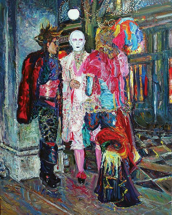 Carnival. Florian. 2009. Oil on canvas. 100 х 80