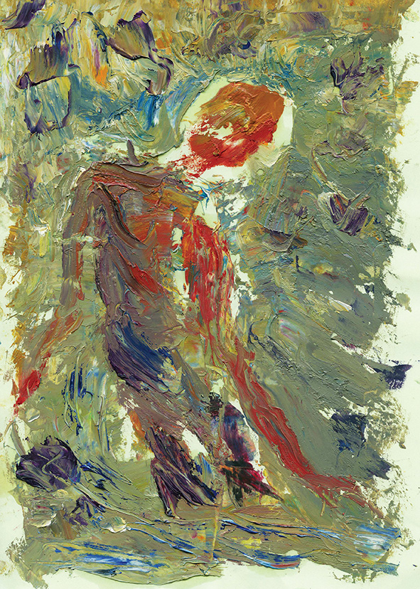 Violet. The Red Figure. 2009. Oil on cardboard. 29.5 х 21