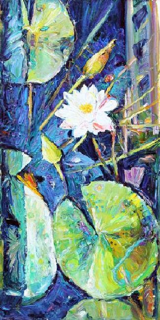 Lily. 2010. Oil on сanvas. 100 х 50