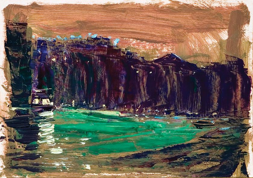 Munch. Evening. Venice. 2010. Oil on cardboard. 21 х 29.5